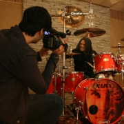 Shooting from the videoclip Based on a True Story at Studio FX in São Paulo